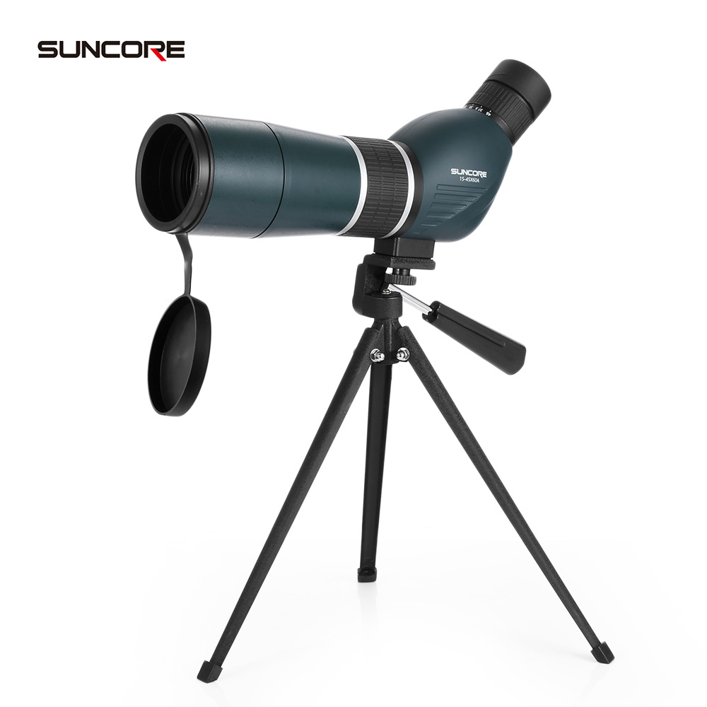 SUNCORE 15 - 45X60A Monocular Telescope Bird Watching Spotting Scope Space Astronomical Telescope with Tripod 2017 NEW brand new f90060m 900 60mm monocular refractor space astronomical telescope spotting scope 45x 675x
