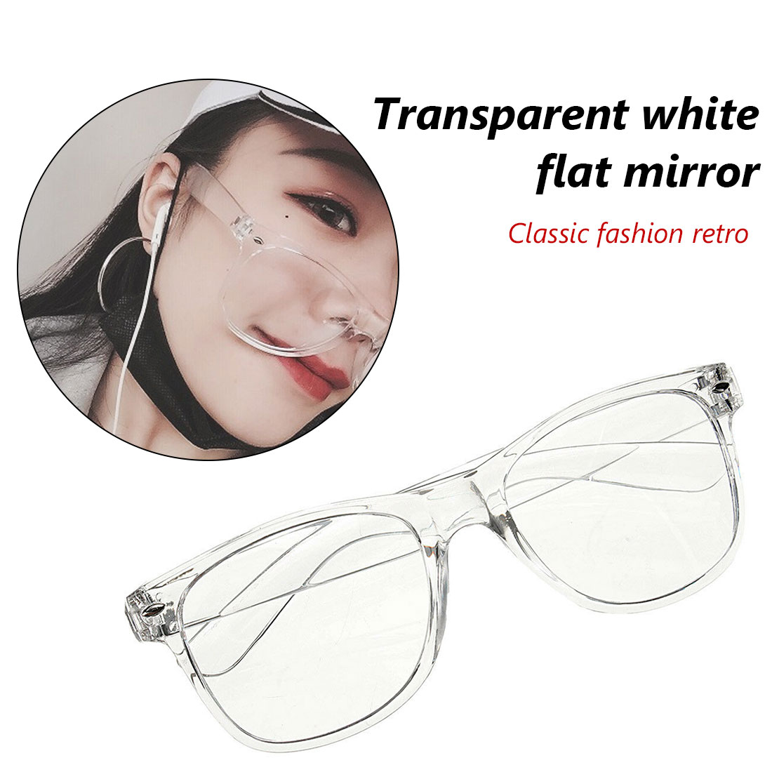 Fashion Transparent Square Glasses Clear Frame Women Spectacle Myopia Glasses Men EyeGlasses Frame Nerd Optical Frames Clear