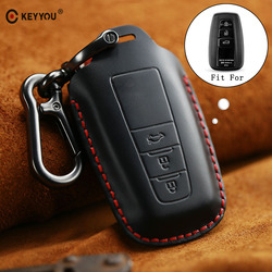 KEYYOU nowy prawdziwej skóry brelok samochodowy pokrywy skrzynka z pęku kluczy dla Toyota Camry Corolla C HR CHR Prado 2018 klucz ochrony w Etui na kluczyki samochodowe od Samochody i motocykle na