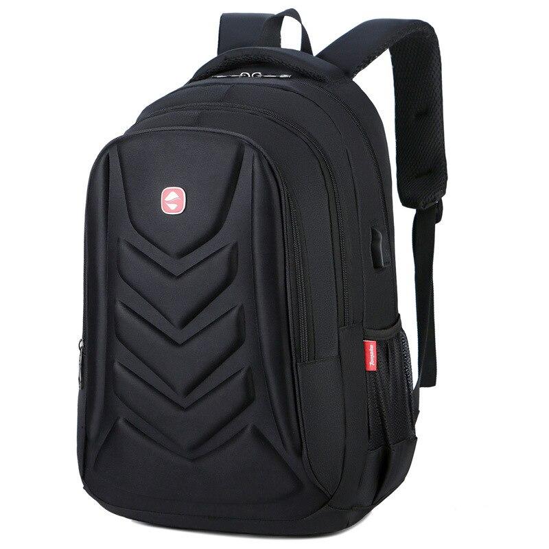 Men Hard-shell Nylon Backpack For School High Quality Scratch-proof Travel Rucksack Bag Women USB Charging Shoulders Bag N0707