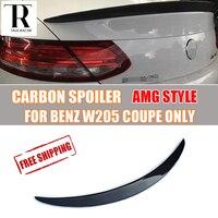 W205 Carbon Spoiler for Mercedes Benz C200 C220 C300 C43 C63 AMG Coupe 2 DOOR 2015 2022 Carbon Fiber Rear Trunk Wing Spoiler
