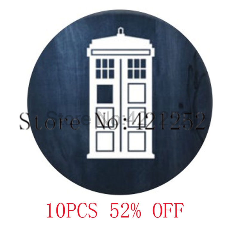The Tardis Pendant Doctor Who Jewelry T.A.R.D.I.S. Glass Photo Cabochon Necklace keyring bookmark cufflink earring ...