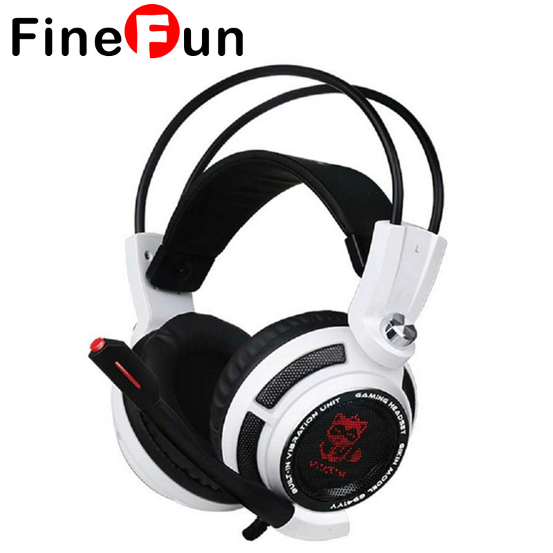 ФОТО FineFun Vibration Function G941 Professional Gaming Headset  7.1 Surround Sound Gaming USB Earphones for PC Games