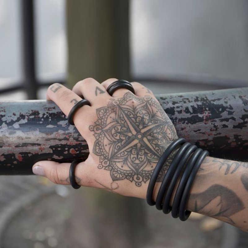 YD & YDBZ новый резиновый браслет и кольцо набор ручной работы ювелирные изделия в стиле панк Модные браслеты мягкие кольца Модный Ювелирный набор оптом