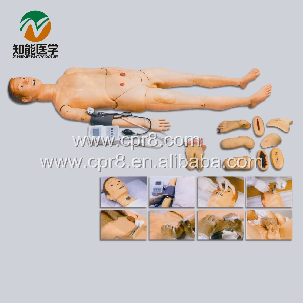 BIX-H2400 Advanced Full Function Nursing Training Manikin(With Blood Pressure Measure) WBW011 advanced full function nursing manikin male bix h135 w189