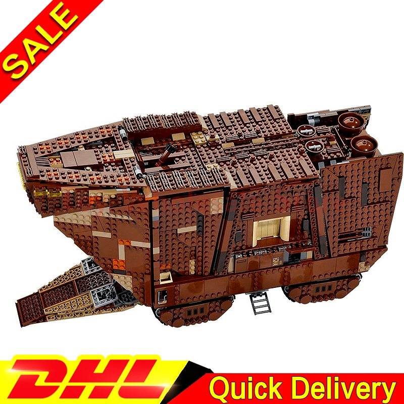 LEPIN 05038 3346pcs Star battle Sandcrawler Building Blocks Model Boy Gift Education le[ins Toys Clone 75059
