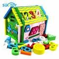 Número da casa de Brinquedos do bebê blocos De Madeira Divertido presente de aniversário educacional brinquedos do bebê treinamento acima 12 m infantil meninos meninas WD079