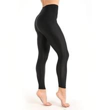 Allenamento vestiti delle donne Leggings Casual Lucido Lucido Legging Femminile Fiteness Leggins Plus Size M XXXL Nero Solido Leggings Fluorescenti