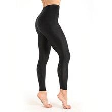Damskie legginsy treningowe Casual błyszczące błyszczące Legging kobiece legginsy fitness Plus rozmiar M XXXL czarna porządna fluorescencyjna legginsy