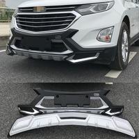 Для Chevrolet EQUINOX 2017,2018 Бампер протектор Защита Анти воздействие Высококачественная тарелка абсолютно новый АБС Передний + задний автомобиль а
