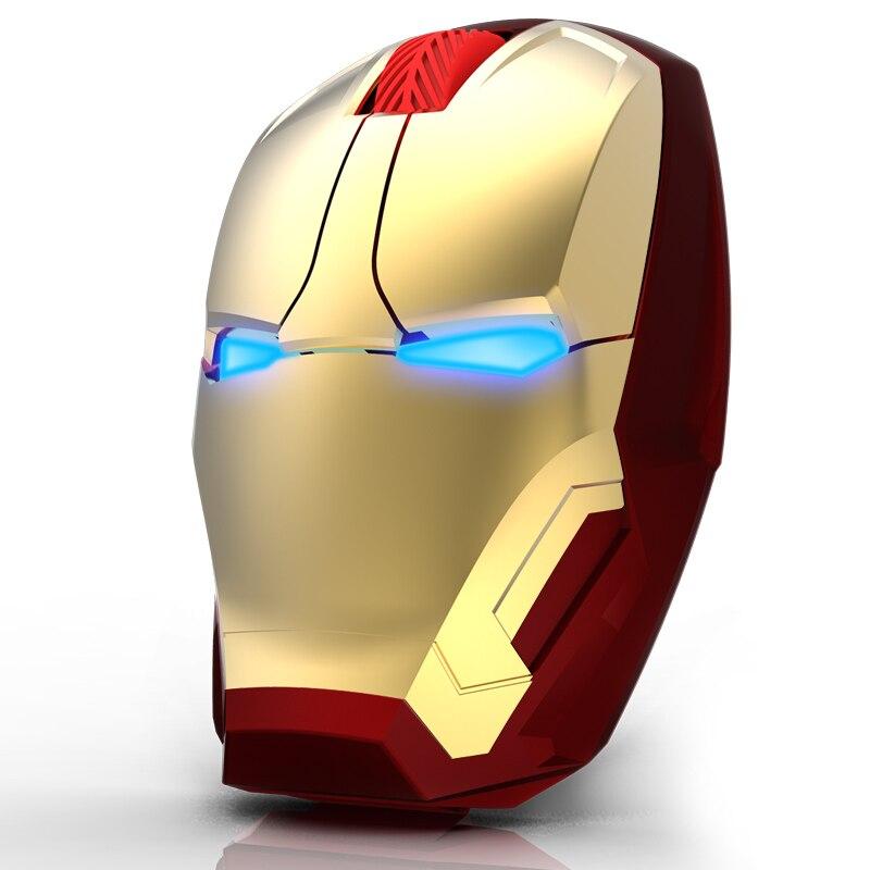 Iron Man Maus Drahtlose Maus Gaming Maus Gamer Computer Mäuse Taste Stille Klicken 800/1200/1600/2400 DPI Einstellbare computer-