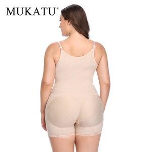 Image 4 - Plus Size Slimming Shapewear Butt Lift Shapers Sculpting Body Shaper Fat Control Shapewear Full Bodysuits Corrective Underwear