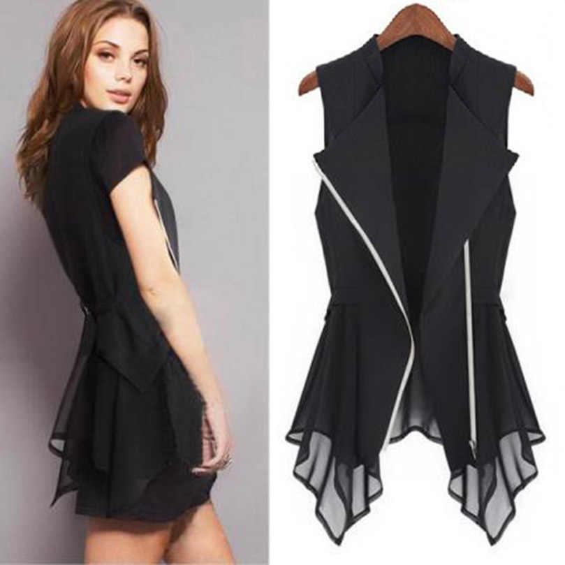 6a0146af10be ... MWSFH плюс размер длинный жилет женский s весна лето верхняя одежда  новый женский жилет пальто Европа ...
