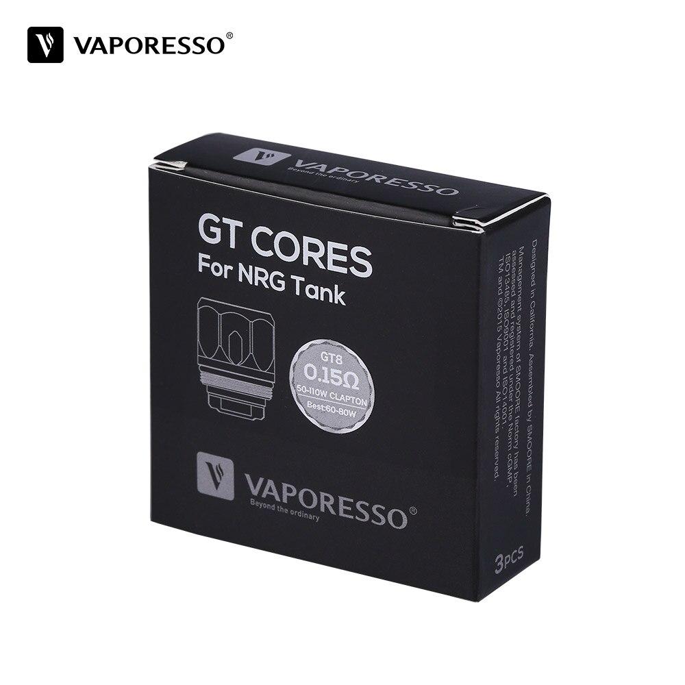 3 teile/paket Original Vaporesso NRG GT8 Spule vape Core für NRG tank/Revenger Kit 0.15ohm innovative GT spule 60-110 Watt für e-zig