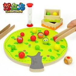 Candice guo divertido juguete educativo de madera montessori colorido árbol frutal clip bola mano-ojo coordinación juego cumpleaños regalo 1 pc