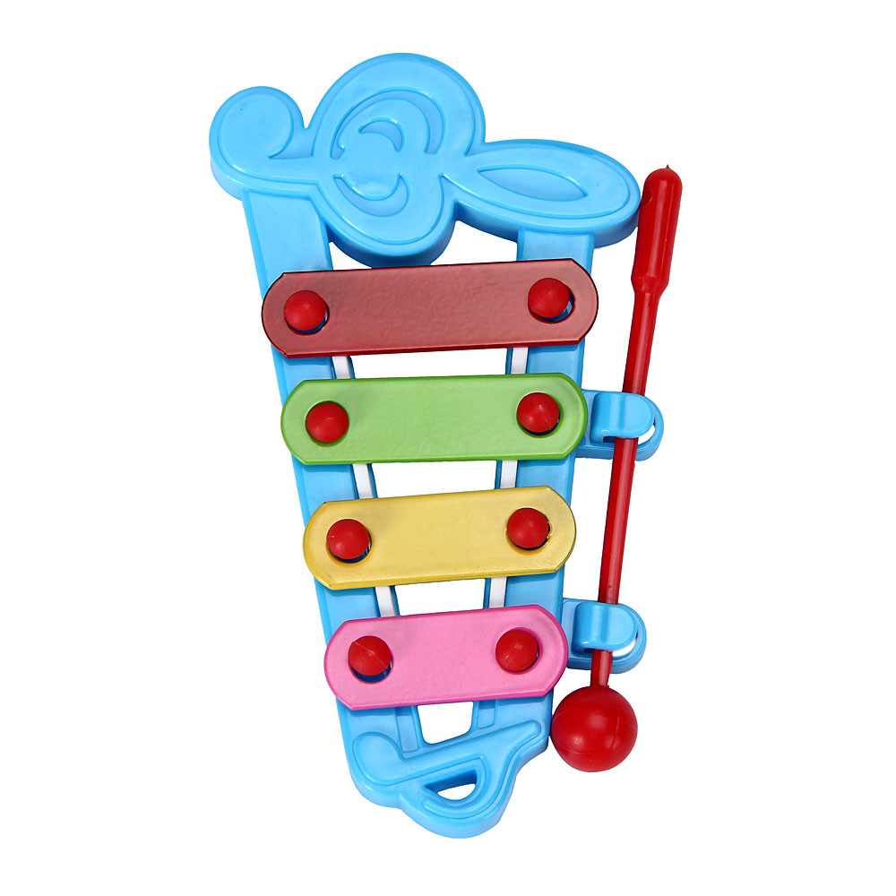 2017 HOT Baby Kid 4-Note Xylophone Musical Toys Wisdom Development Musical Instrument Gift For Child 11.5cmX6cm