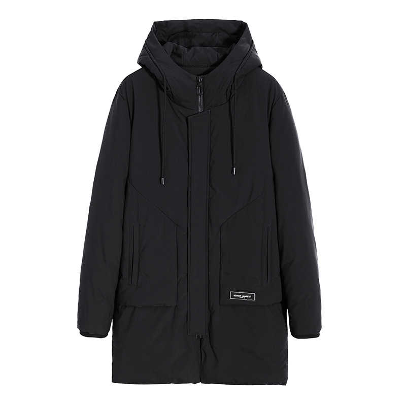 Pioneer Camp New long parka men brand clothing thick warm