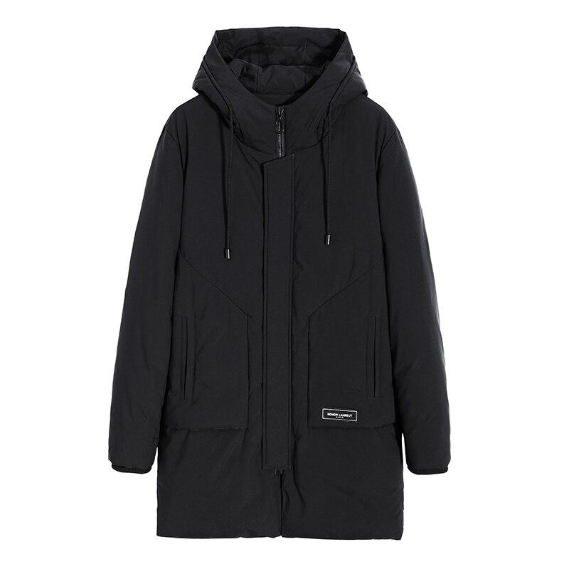 Pioneer Camp nouveau long parka hommes marque-vêtements épais chaud veste d'hiver mâle top qualité coton matelassé manteau hommes AMF801455