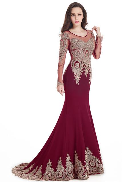 Robe de Soiree Longue Real Kaftan Dubai Black Long Sleeve Mermaid Evening Dresses  Formal Evening Gowns China Vestido Longo