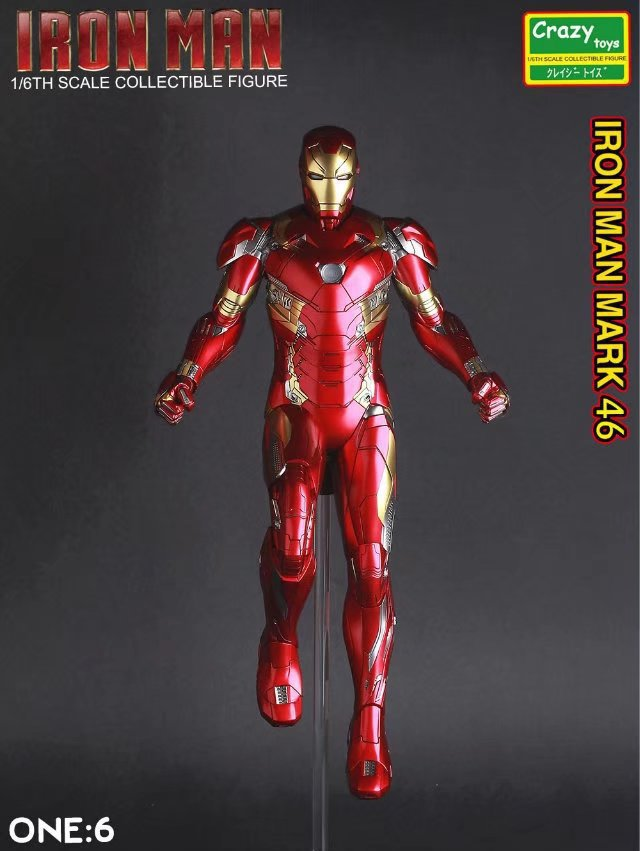 Crazy Toys Iron Man Mark XLVI Action Figure 1/6 scale painted Figure IronMan Mk46 Marvel PVC Action Figures Toy Brinquedos free shipping marvel iron man action figure superhero tonny pvc figure toy 6 chritmas gift prototype