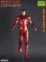Crazy Toys Iron Man Mark XLVI Action Figure 1/6 scale painted Figure IronMan Mk46 Marvel PVC Action Figures Toy Brinquedos