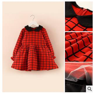 131d8f06a Retail baby girls red plaid dresses with long sleeved
