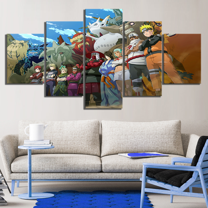 Anime Naruto Bijuu Tailed beasts Poster Pictures for Home Decor Wall Painting 1