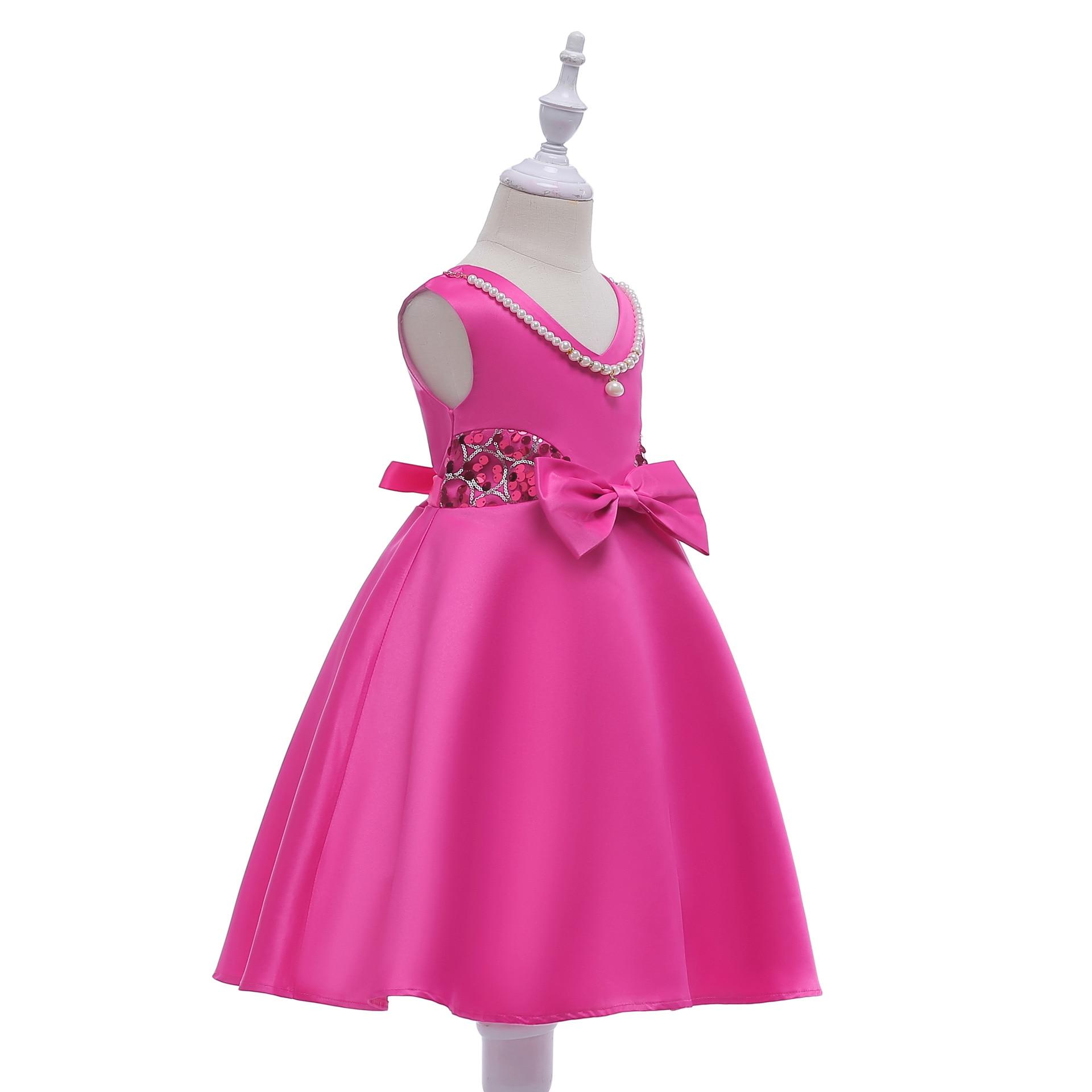 Hibyhoby 2018 nieuwe Boog Baljurk Mouwloze Pailletten jurk Meisjes - Kinderkleding - Foto 4