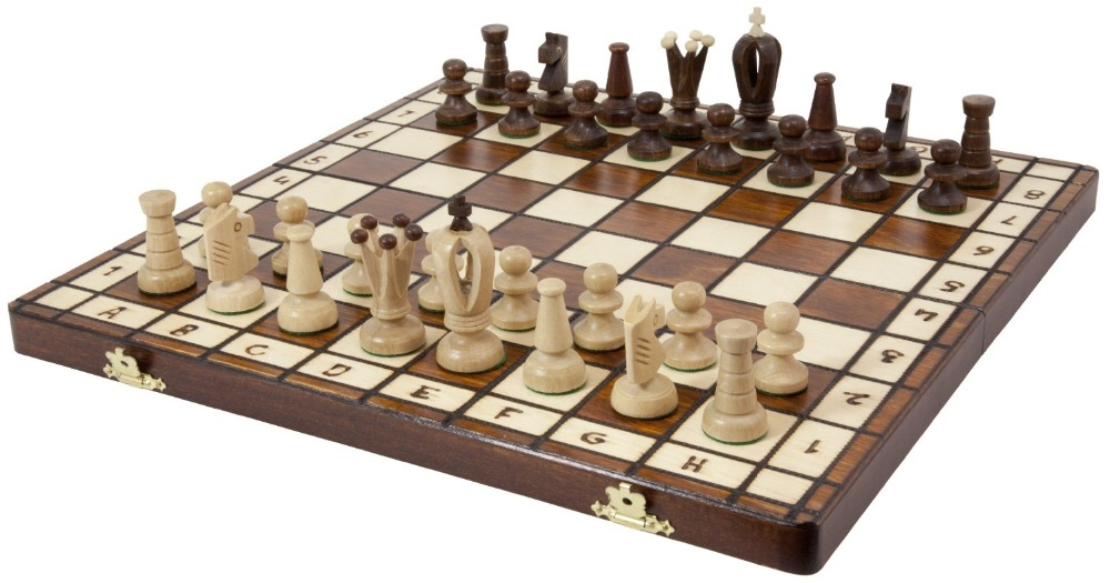 International Chess Set High-grade wooden Chess New Style Chess Set Resin 36*36*6 CM Child Game With Foldable Chess box chess