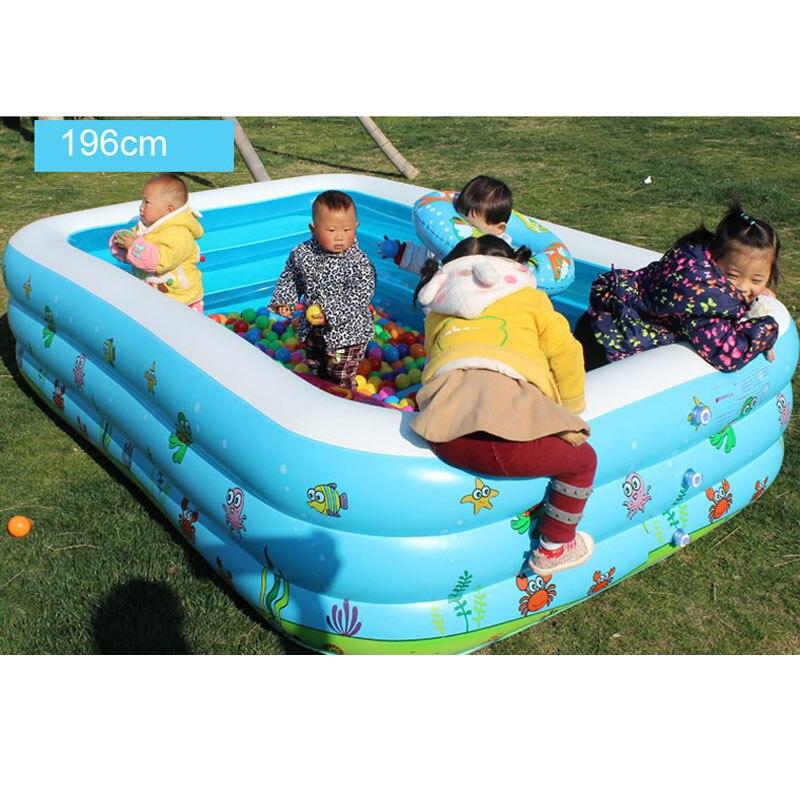 Intime Center De Natation Famille Salon Gonflable Piscine Hors Sol Piscine Enfants Enfants Jeu Océan Boules Piscine