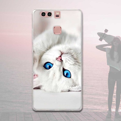 Silicone Case For Huawei P9 Case Back Cover For Huawei P9 EVA-L09 EVA-L19 EVA-L29 5.2 inch Phone Cases Painted Soft TPU Covers Lahore