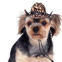 Ковбойские Товары для собак Шапки Прохладный Pet Товары для кошек Косплэй партии Кепки Уход за лошадьми Интимные аксессуары 5 Цвета