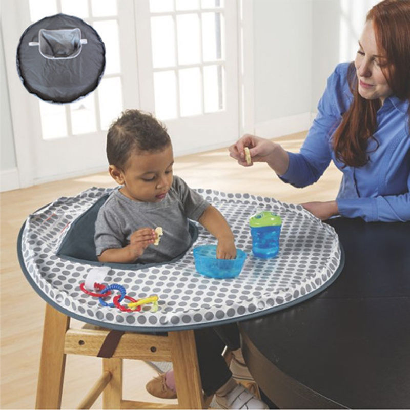 New Baby High Chair Mat Infants Waterproof Feeding Eating Round Fold ...