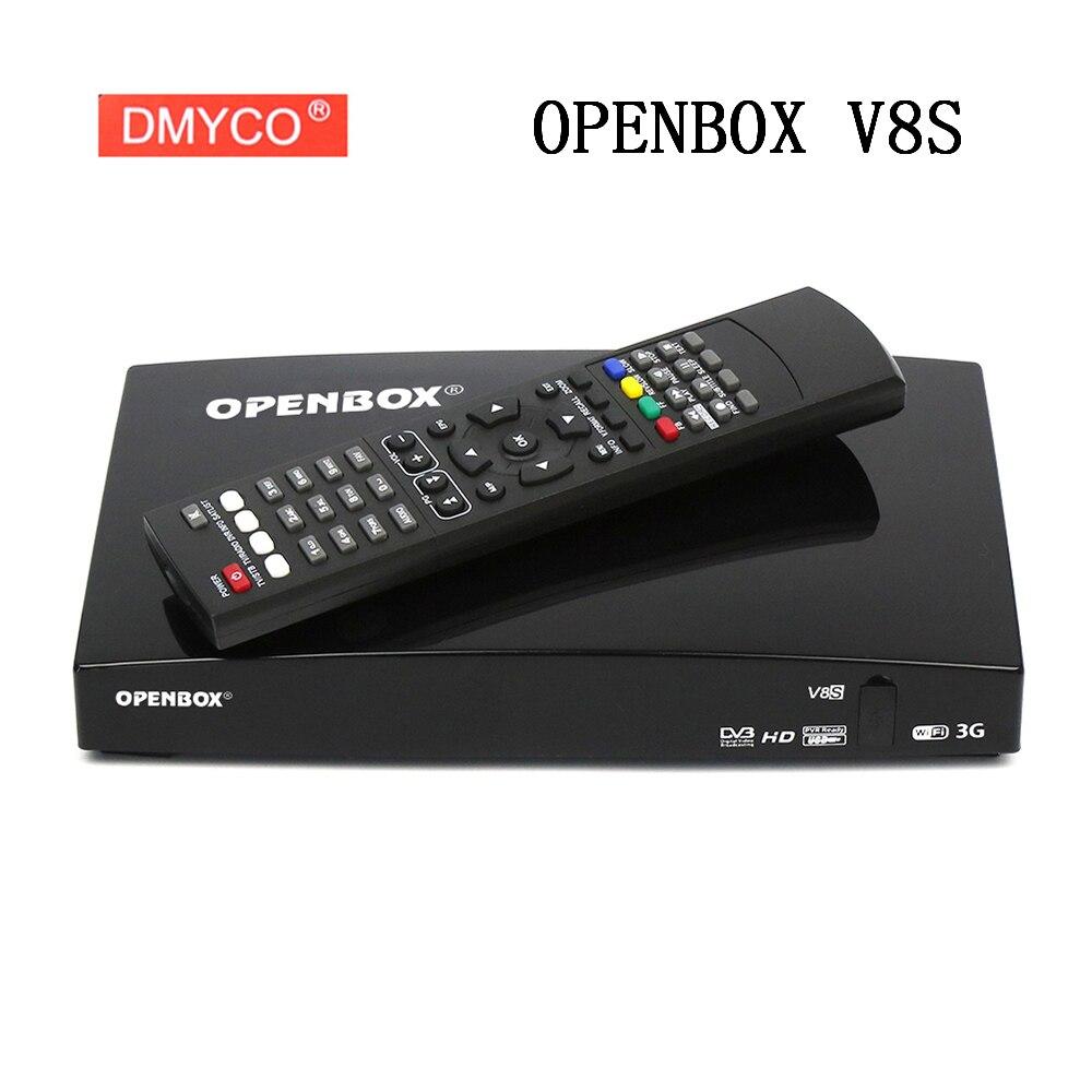 Original openbox v8s DVB-S2 receptor de satélite digital S-V8 webtv biss chave 2x usb slot usb wifi 3g youporn newcamd