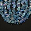 Strand Azul Cluster Aura Titanium Druzy Cuarzo Punto Flojo de Los Granos de Cristal de Titanio de Cuarzo Ángel Cluster 7-10x17-24mm