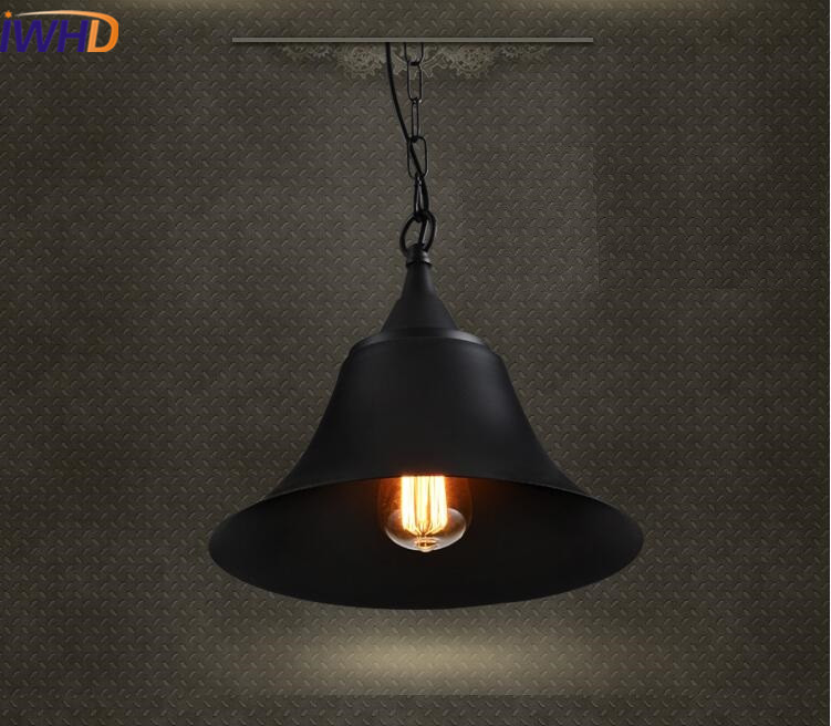 IWHD Iron Retro Vintage Industrial Pendant Lights Style Loft Pendant Lamp Bedroom Kitchen light Fixtures Home Lighting