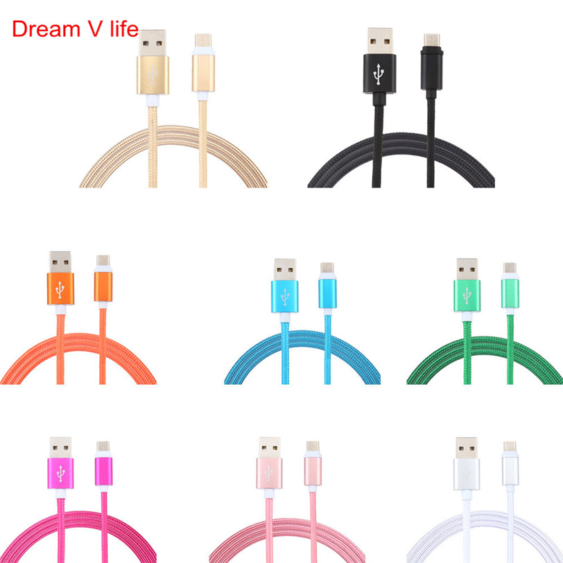 For Android 3M Nylon Braided USB-C USB 3.1 Type C 2017 Wholesale For New Arrival High Quality  Data Charge Charging Cable May 4