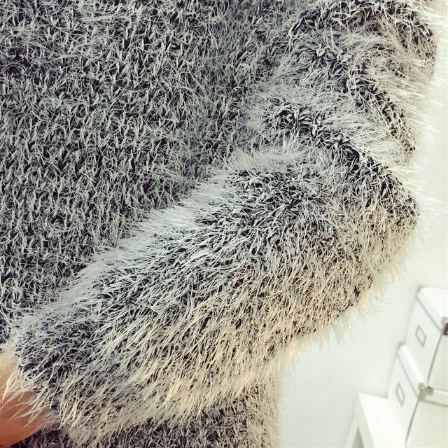 Mohair O-Neck Sweaters 5
