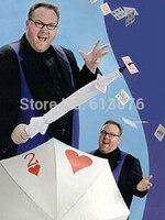 יש זה מכוסה, טריק חרב-magic טריקים כרטיס מטרייה, מטרייה דרך כרטיס, במה, גימיק, אשליה, אבזרים, קומדיה