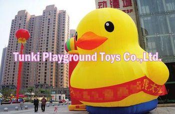 3 metrów giant nadmuchiwane promocja kaczka nadmuchiwane żółta kaczka tanie i dobre opinie TKAP Plac zabaw na świeżym powietrzu 3 lat Nadmuchiwany plac zabaw dla dzieci yellow duck