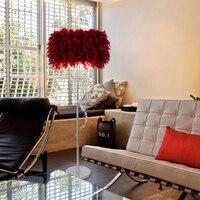 새로운 현대적인 미니 멀리 즘 웨딩 생일 livable 침실 거실 럭셔리 호텔 크리스탈 깃털 술 플로어 램프|floor lamp|lamp floor lampfeather floor lamp -