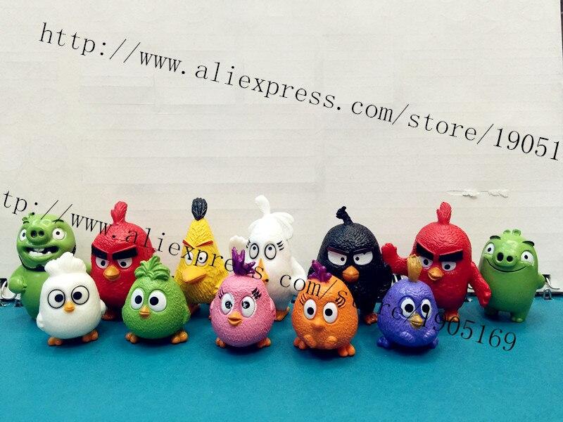 Kids Toys Action Figure: 12pcs/set Cartoon Birds Toys Action Figures Kids Toys