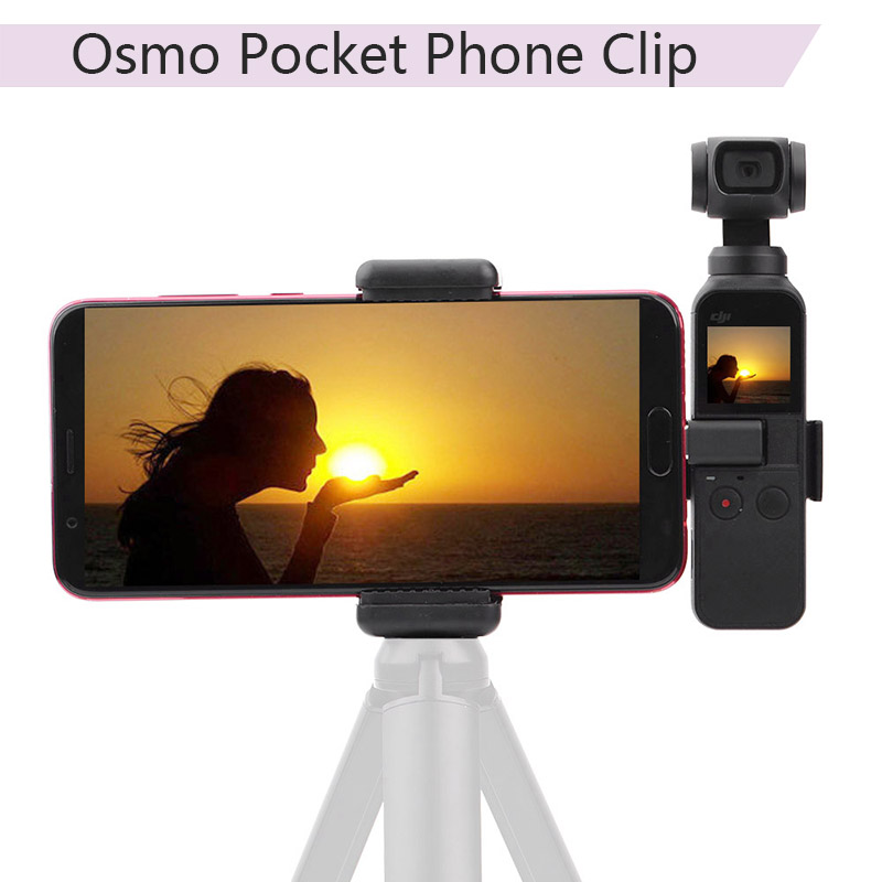 Portable Mount Plastic DJI OSMO POCKET Mobile Phone Securing Clip Fixing Bracket Stand Holder 1/4'' Handheld Gimbal Accessories