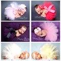 2016 Hot Baby Photography Props Flower Tire Tutu Girls Dress Kawaii Baby Clothes Handmade Hats Newborn Photography Accessories