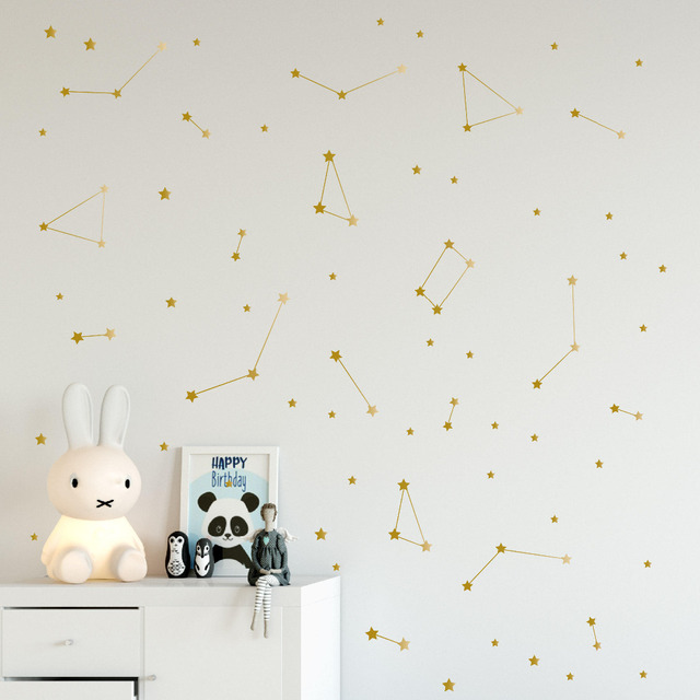 Constellation Wall Decal Kids Bedroom Removable Decoration Outer Space Nursery Sticekrs Zodiac Astronomy Art Mural Decor & Constellation Wall Decal Kids Bedroom Removable Decoration Outer ...