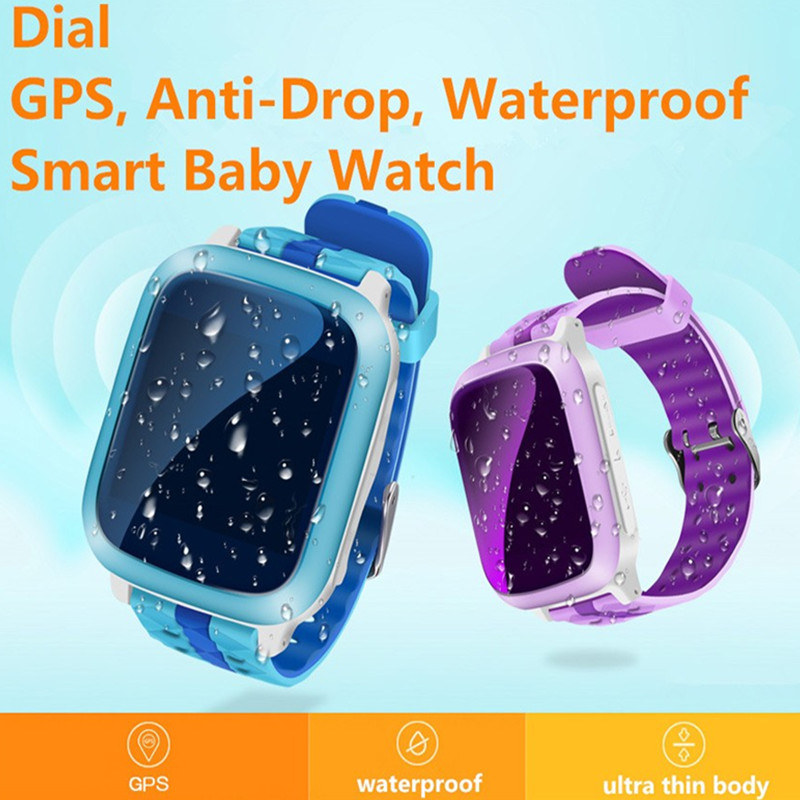 ФОТО  DS18 Waterproof Smart Baby Watch GPS Tracker For Kids 2016 Wifi SOS Anti Lost Location Finder Smartwatch For IOS Android PK Q50