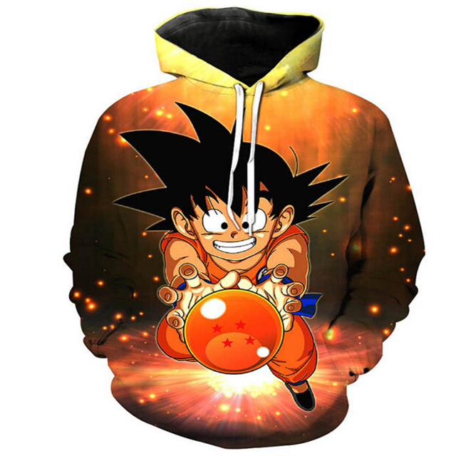 Anime Dragon Ball Z Pocket Hooded Sweatshirts Goku 3D Hoodie