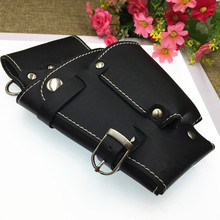 professional Multifunction hair scissors leather case Waist Shoulder Belt barber packet Salon Holster hairdressing scissors bag