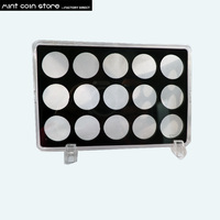1 pçs/lote Vazio caso caixa de exibição caixa de exposição para o conjunto de moedas|box for|empty box|box display -