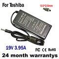 19 В 3.95A 75 Вт 5.5*2.5 мм Адаптер ПЕРЕМЕННОГО ТОКА Зарядное Устройство для Toshiba Satellite L100 L300 L350 L450 L450D L500 L500D L505 L550 L555